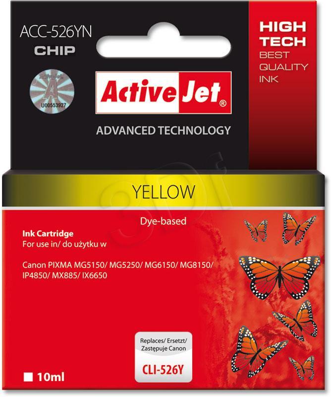 ActiveJet CLI-526Y - 10 ml - 100% NEW (WITH CHIP)     ACC-526Y - kompatibilní EXPACJACA0108